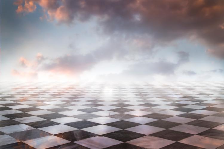 voir l'avenir sur un damier de jeux échecs